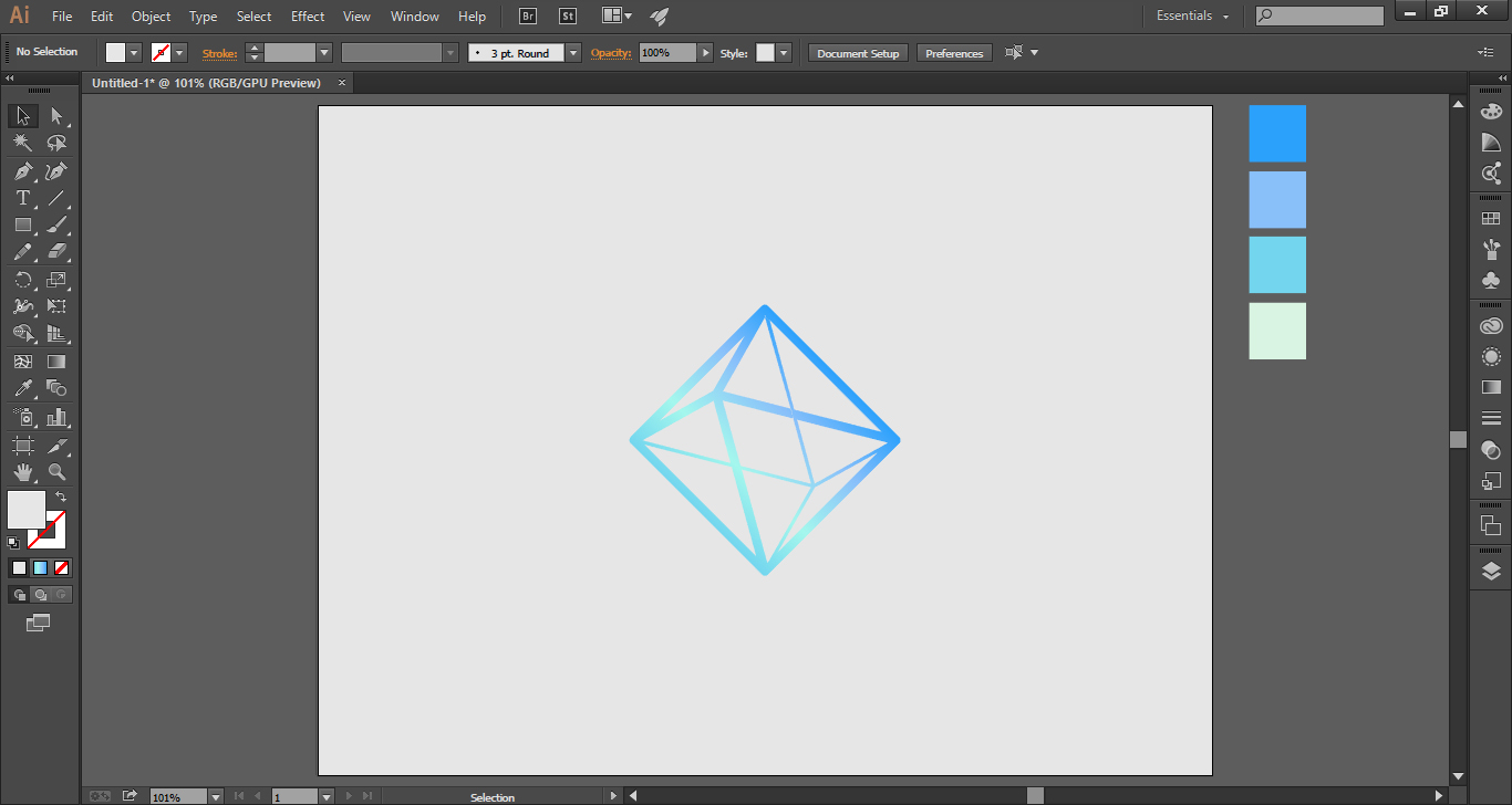 How to Create a Logo using Triangles and Square Lines